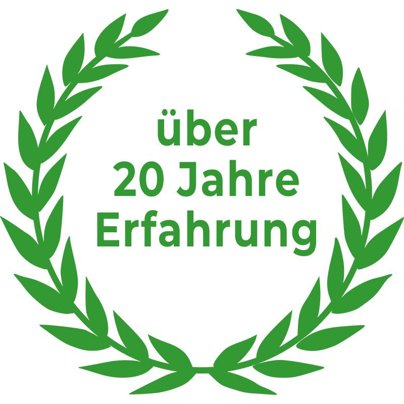Tariföffnung Erfahrung Siegel Lorbeerkranz 20 Jahre